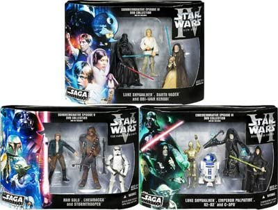 Amazon Com Star Wars Commemorative Episode Iv V And Vi Dvd Collection Exclusive Set Of 3 Entertainment Collectibles