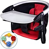 Phil Teds Lobster Highchair with Click Clack Balls Teether Red Black