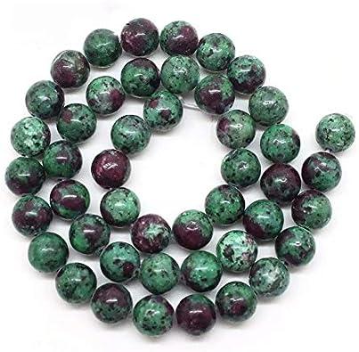 Jaipur Gems Mart AAA Naturales 1 de Piedras Preciosas Perlas Rubí Zoisite Strand para Hacer la joyería | 8 mm Granos Redondos Zoisite Rubí | Rubí los Granos Flojos Redondos Lisos Zoisite | Strand 15