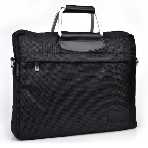 Edge Briefcase Notebook (Black:: Men's Universal Nylon Notebook Briefcase Handles fits Lenovo ThinkPad EDGE 11 0328RY1, Edge E130, X121E 3045RP7, X130e, X130e, X131e, X140e NuVur)