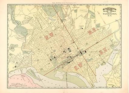 Amazon Com 1893 Map Rand Mcnally Co S Indexed Atlas Of The