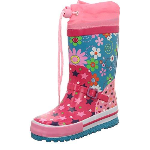 Beck Kindergummistiefel Stars Pink Rosa