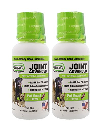 Formula Pot Roast Flavor (Liquid-Vet Joint Advanced Formula – Fast Acting Glucosamine for Joint Aid ADVANCED in Canines – Pot Roast Flavor - Trial Size, Buy 1 Get 1 Free - 8 fl oz)
