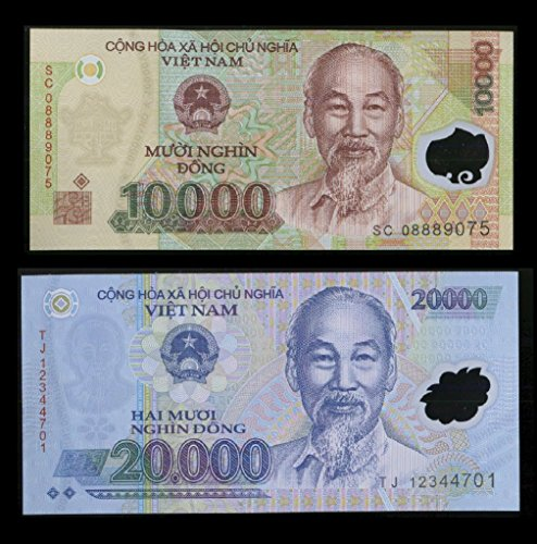 (30,000 Vietnam Dong One 20000 & One 10000 Vietnamese Dong Note Foreign Currency - authentic very rare For collectors (only 5 sets left) )