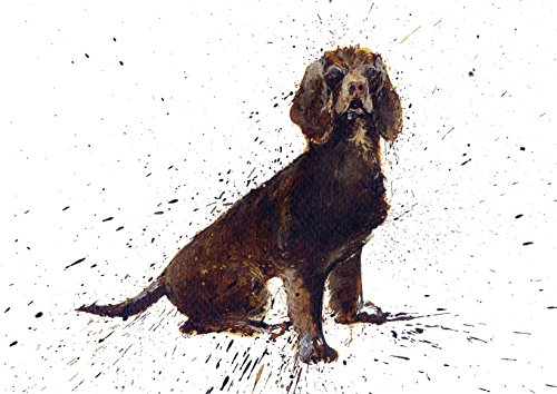 - Cocker Spaniel Dog Greeting Card. Made From an Original Painting By Clare Brownlow. Printed on High Quality Artists Card. Envelope Included. Blank on the Inside for Any Message