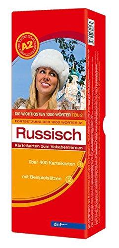 Karteikarten Die wichtigsten 1000 Wörter Russisch, Fortsetzung (Niveau A2)