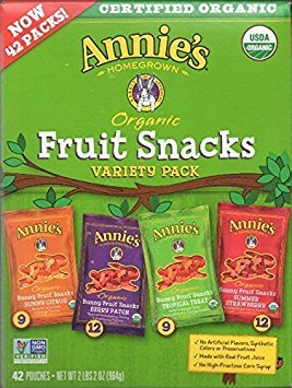 Annie's Homegrown Organic Fruit Snacks Variety Pack, 42 Count by Annie's Homegrown