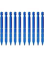 TRIWONDER 10 × Estacas para Tienda de Campaña de Aluminio Clavijas de Carpa para Camping Toldo Jardín