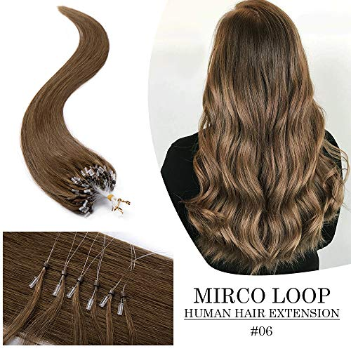 Remy Nano Ring Human Hair Extensions Micro Beads Loop Pre Bonded Stick Shoelace Tips Hair Cold Fusion Long Straight Virgin Hair Extension 22