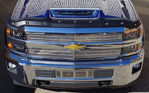 FormFit Textured Black Tough Guard Hood Protector Bug Shield Deflector Fits 2017-2018 Chevrolet Silverado 2500 3500 Diesel