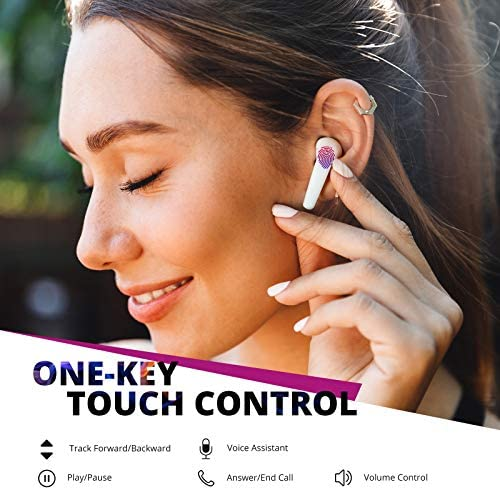 ENACFIRE GEEK Wireless Earbuds Bluetooth Earbuds 13mm Driver AptX Deep Bass, Bluetooth Headphones CVC 8.0 Noise Cancellation, IPX8 Waterproof Sport Wireless Earphones with Dual Mics/36H Playtime/USB-C