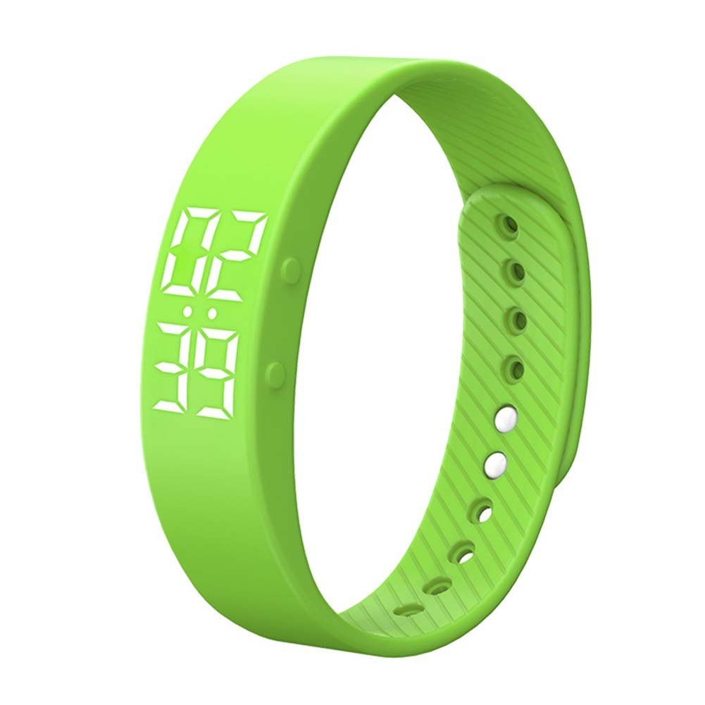 Activity Tracker, Heart Rate Monitor Pedometer Sleep Monitor Smart Bracelet Waterproof Screen Display with Message Reminder for Girls Women Man(Green)
