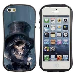 Paccase / Suave TPU GEL Caso Carcasa de Protección Funda para - Lincoln Abraham President Dead - Apple Iphone 5 / 5S
