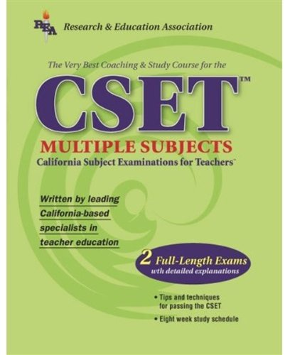 The Best Teachers' Test Preparation for the CSET Multiple Subjects : California Subject Matter Examinations for Teachers