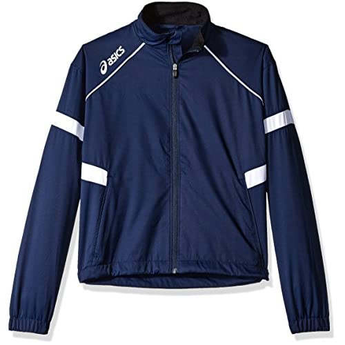 Asics Junior Surge Warm-Up Jacket (Navy/White) for cheap ez0KjHLk