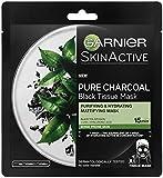 Garnier Charcoal and Black Tea Hydrating Face Sheet Mask