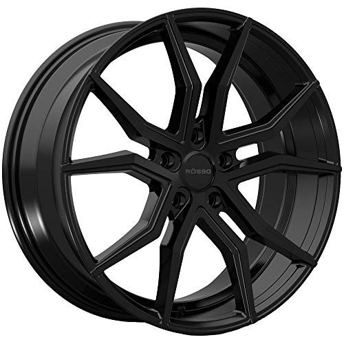 Rosso ICON 702 Black Wheel with Painted Finish (20 x 10. inches /5 x 120 mm, 20 mm Offset)