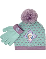 Accessory Supply Frozen 2 Elsa Winter Hat and Glove Set, Girls Beanie w/Pom