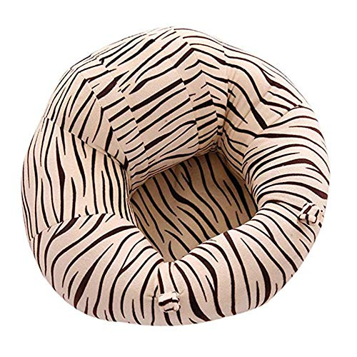 Learning to Sit On The Sofa Toldder Infant Learn Sitting Sofa Chair Baby Safety Support Floor Seat Sofa Zebra Pattern Baby Plush Pillow Cushion Baby Seat (Color : Zebra Pattern, Size : One Size)