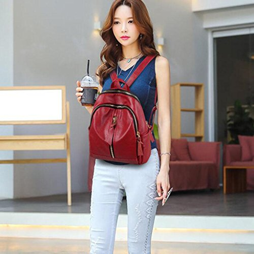 34 and red 16 Travel backpack leisure Y Bags Shoulder 30 Student amp;F handbag cm package Zw0wOqT