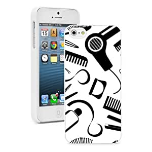 Apple iPhone 4 4S 4G White 4W570 Hard Back Case Cover Color Hair Stylist Tools Pattern