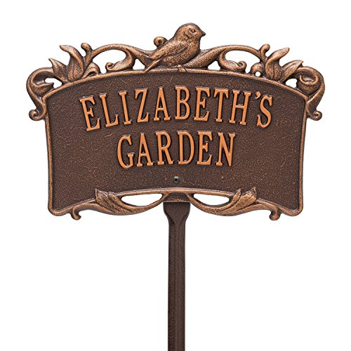 2 Line Personalized BIRD Garden Plaque
