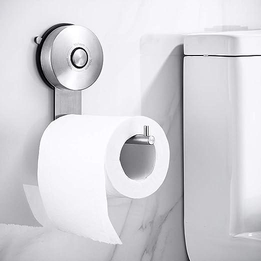 Soporte de papel higiénico Brush /& base curvada de acero inoxidable Soporte de tejido de baño