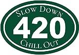 Marijuana Decal - Slow Down Chill Out Cannabis Vinyl Sticker - Marijuana Bumper Sticker - 420 Decal - Pro Pot Gift - Made in the USA