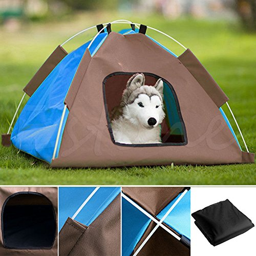 dog-cat-camping-gear-set-with-pet-tent-and-outdoor-bed-medium-foldable-doghouse