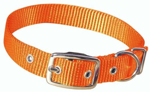 "Hamilton 3/4"" Single Thick Nylon Deluxe Dog Collar, 20"", Mango"