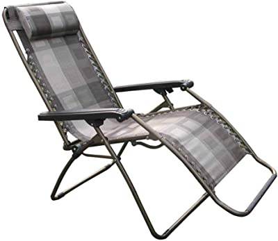 Textilene Fabric Folding Reclining Chair Sun Lounger Relaxing Chair Deck Chairs Summer Lunch Break Garden Lattice