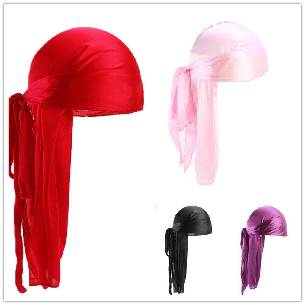 Yogasada Men Women Silk Satin Breathable Silky Durag 360 Wave Cool Bandana Hat Turban