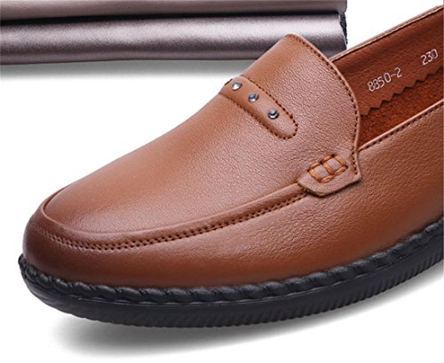 De Negro Únicos Señoras Nvxie 36 4 Pisos Nueva Brown Rojo Fiesta Bottom Comfort eur40uk7 Marrón Antideslizante Soft Primavera Otoño Loafer 5 Zapatos 3 Bombas Ocio Eur Trabajo Genuina Piel uk x6RRrwt