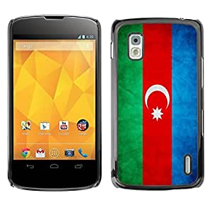 YOYO Slim PC / Aluminium Case Cover Armor Shell Portection //Azerbaijan Grunge Flag //LG Google Nexus 4