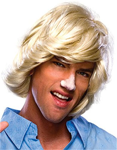 [Rubie's Costume Characters Surfer Dude Blonde Wig, Blonde, One Size] (Blonde Wig Men)