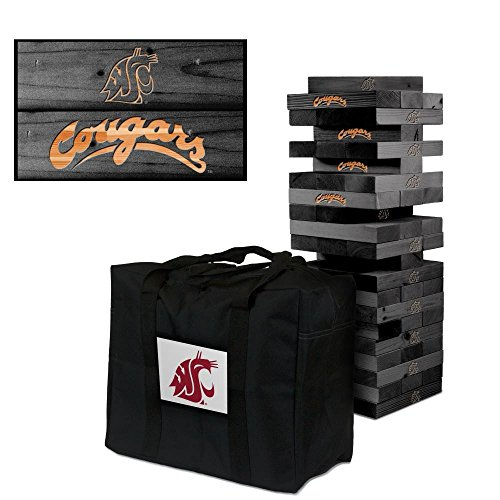 NCAA Washington State Cougars 910057Washington State Cougars Onyx Stained Giant Wooden Tumble Tower Game, Multicolor, One Size by Victory Tailgate