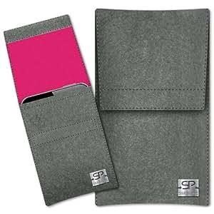 SIMON PIKE Cáscara Funda de móvil Sidney 6 gris elefante Blackberry Curve 9360 Fieltro de lana