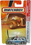 Mattel Matchbox 2007 MBX Emergency Vehicle 1:64 Scale Die Cast Metal Car # 71 - Brazos County Sheriff Silver Dodge Magnum Police Car by MBX Metal