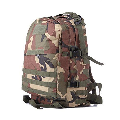 Camouflage Jungle Valeur par défaut SQI Camouflage de sports de plein air, Escalade Randonnée Montagne sac à dosers, épaule sacs sacs à dos tactique 3D