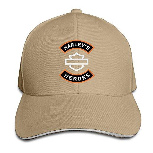 maneg-harley-logo-sandwich-peaked-hat-cap-natural