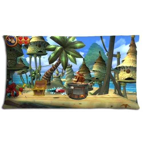 Price comparison product image No-shift Zippered Cotton And Polyester Donkey Kong Country Sofa Pillow Cover Cases CONSTRUCTION 20x36(inch) 50x90(cm)