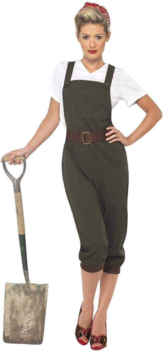 Mesdames 1940 S riveter WW2 Land Girl historique Icône Fancy Dress Costume Outfit