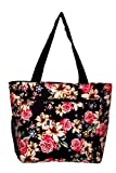 Large Multi – Pocket Fashion Zipper Top Organizing Beach Bag Tote – Custom Embroidery Available (Lily Rose Floral Print) Review