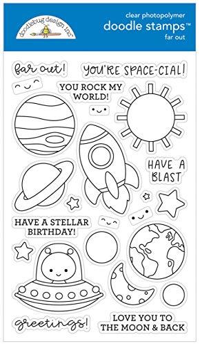 Doodlebug Clear Stamp Set - Far Out