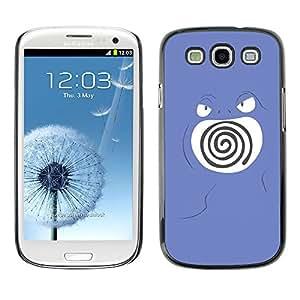 All Phone Most Case / Oferta Especial Duro Teléfono Inteligente PC Cáscara Funda Cubierta de proteccion Caso / Hard Case Samsung Galaxy S3 // Purple Swirl Poke Monster