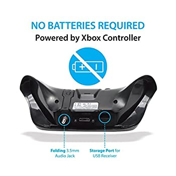 Gamers Digital 2.4Ghz Mini Wireless QWERTY Keyboard Gaming Joypad Chatpad with Audio passthrough for Xbox One and Compatible with All XB1 Controllers