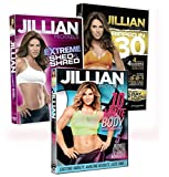 3 Pack Jillian Michaels Fitness DVD's 10 Minute Body Extreme Shed And Shred Ripped In 30