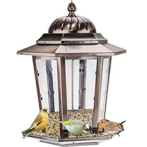 ZDYLM-Y Hummingbird Feeder, Metal Wild Bird Feeder Hanging for Garden Yard Outside Decoration, for Attracting Birds Outdoors, Backyard, Garden