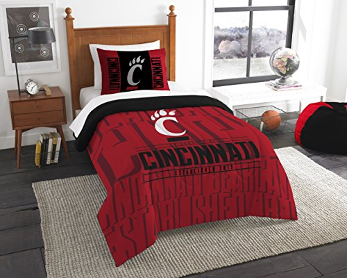 The Northwest Company Officially Licensed NCAA Cincinnati Bearcats Modern Take Twin Comforter and Sham