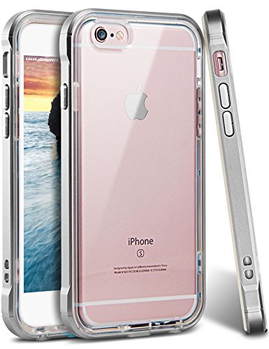 iPhone 6 Case, iPhone 6s Case, Ansiwee Reinforced PC Frame Crystal Durable Shock-Absorption Flexible Soft Rubber TPU Bumper Hybrid Protective Case for Apple iPhone 6/6s 4.7inch (Light Gray)